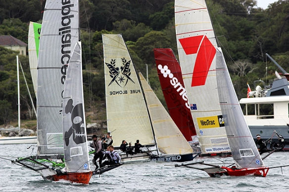 action at the windward mark