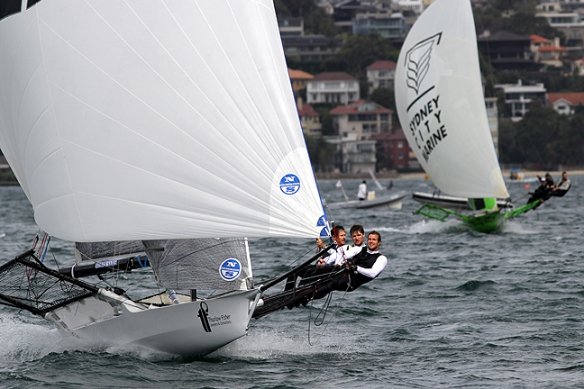 thurlow fisher hold off the challenge from sydney city marine