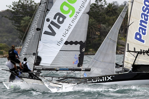 viagogo rolls over the top of lumix after the first mark rounding